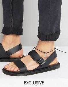 Браслет на ногу с подвеской Reclaimed Vintage - Черный