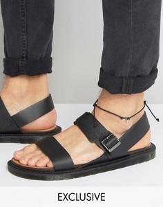 Браслет на ногу с подвеской-якорем Reclaimed Vintage - Черный