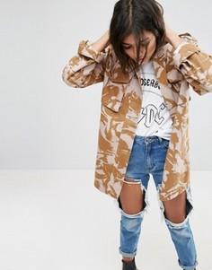 Куртка с камуфляжным принтом ASOS - Stone