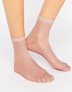 Носки с блестками ASOS - Розовый