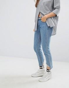 Состаренные джинсы с необработанной кромкой STYLENANDA - Синий
