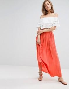 Плиссированная юбка макси Vanessa Bruno Athe - Красный