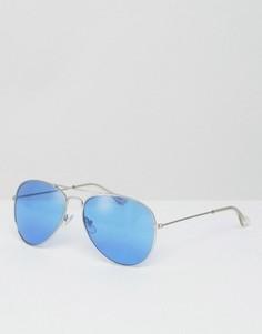 Солнцезащитные очки-авиаторы с голубыми стеклами Jeepers Peepers - Синий