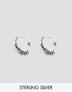 Серебряные серьги-кольца Reclaimed Vintage - Серебряный