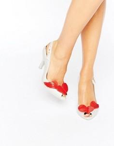 Сандалии на каблуке с 3d-отделкой в виде ангельских крыльев Vivienne Westwood for Melissa - Красный