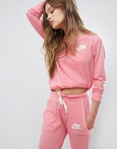 Розовый свитшот в винтажном стиле Nike - Розовый