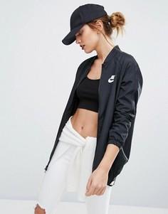 Черный тканый бомбер Nike - Черный