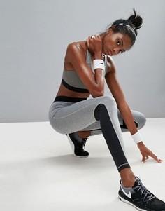 Серые леггинсы со вставками Nike - Серый