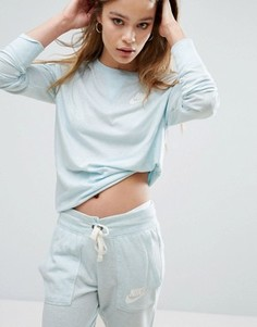 Голубой винтажный свитшот Nike - Синий
