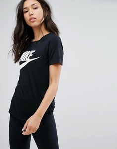 Черная футболка с логотипом Nike - Черный