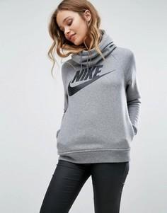 Серый худи с большим логотипом Nike Rally - Серый