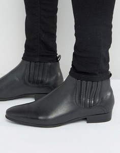 Кожаные ботинки челси Hudson London Zelus - Черный