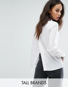Белая рубашка с разрезом на спине Noisy May Tall - Белый