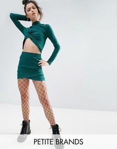 Мини-юбка в полоску Noisy May Petite - Зеленый