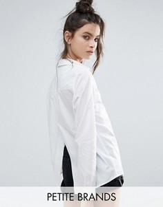Белая рубашка с разрезом на спине Noisy May Petite - Белый