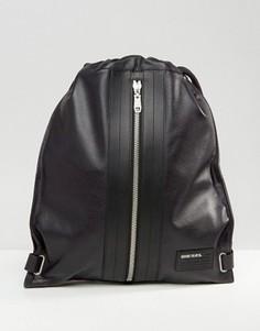 Черный кожаный рюкзак Diesel - Черный