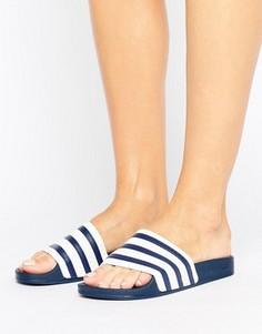 Бело-синие шлепанцы adidas Originals Adilette - Мульти