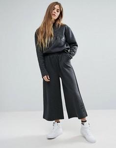 Широкие комбинируемые брюки с логотипом Ellesse - Серый