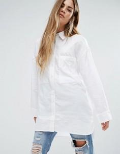 Свободная длинная рубашка бойфренда Ellesse - Белый