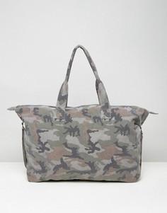 Камуфляжная парусиновая сумка ASOS - Мульти