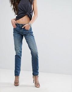 Прямые джинсы с завышенной талией G-Star 3301 - Синий