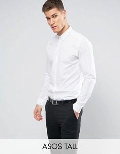 Белая рубашка классического кроя с воротником на пуговицах ASOS TALL - Белый