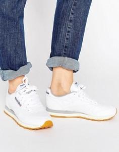 Классические кожаные кроссовки на резиновой подошве Reebok - Белый