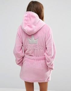 Укороченный халат с капюшоном Boux Avenue Princess - Розовый