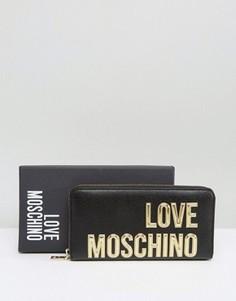 Кошелек с большим логотипом Love Moschino - Черный