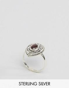 Серебряное кольцо с красным камнем Regal Rose Khalida - Серебряный