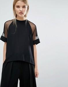 Блузка с короткими рукавами Samsoe & Samsoe - Черный