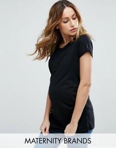 Футболка с круглым вырезом New Look Maternity - Черный