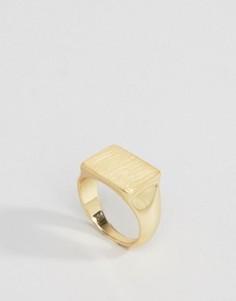 Позолоченное кольцо с печаткой Pieces - Золотой