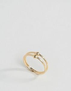 Двойное кольцо Pieces Amina - Золотой