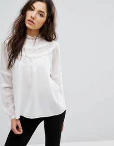 Рубашка с оборками Vila - Белый