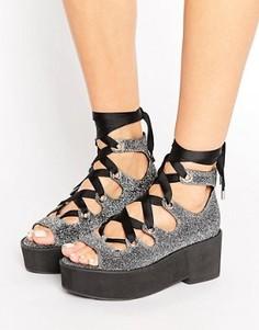 Туфли на шнуровке ASOS OH MY - Серый