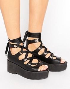 Туфли на шнуровке ASOS OH MY - Черный