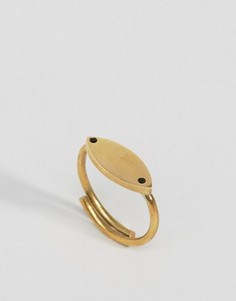 Кольцо с листиком Made - Золотой