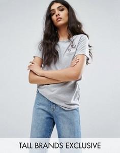 Трикотажная футболка с принтом Daisy Street Tall - Серый