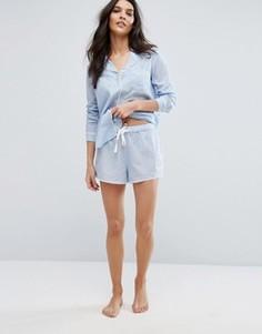 Пижамные шорты в полоску Y.A.S - Синий