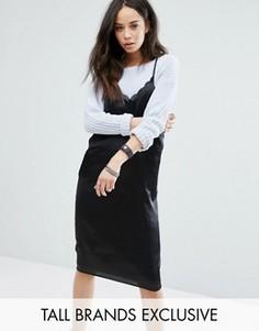 Платье-комбинация с лямками Noisy May Tall - Черный