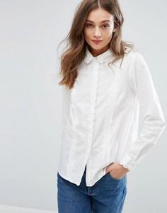 Рубашка с оборкой Vila - Белый