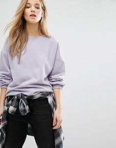 Свитер с пышными рукавами New Look - Фиолетовый
