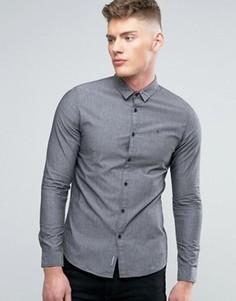 Серая узкая рубашка Calvin Klein Jeans - Серый