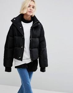 Свободное утепленное пальто STYLENANDA - Черный