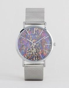 Часы со змеиным принтом Reclaimed Vintage - Серебряный