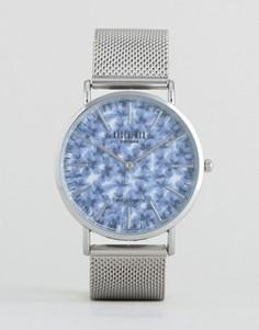 Часы с лиственным принтом Reclaimed Vintage - Серебряный