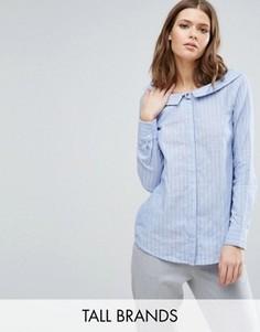 Рубашка в полоску с вырезом лодочкой Y.A.S Tall - Синий