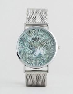 Серебристые часы с тигровым принтом Reclaimed Vintage - Серебряный
