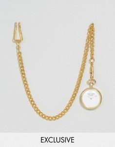 Лаконичные карманные часы золотистого цвета Reclaimed Vintage - Золотой